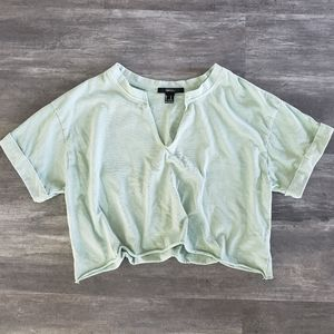 Mint Green F21 Cropped Short Sleeve